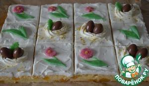 Рецепт Сливочно-персиковое пирожное