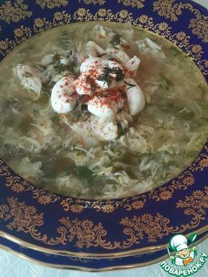 Рецепт Куриный суп с щавелем