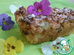 Рецепт Кокосово-ревеневый пирог