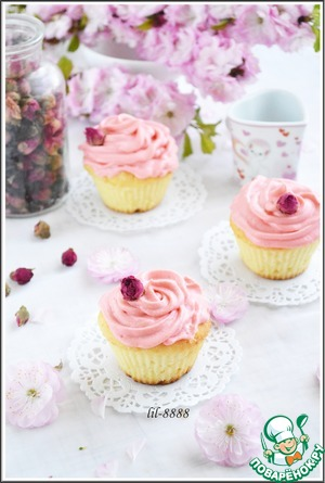 Рецепт Капкейки с личи и розовой водой