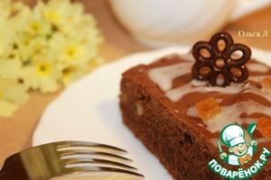 Рецепт Шоколадно-имбирный пирог с апельсиновыми цукатами