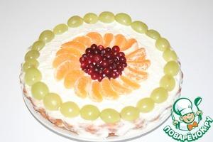 Рецепт Творожный торт с фруктами