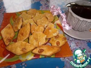 Рецепт Творожное печенье с изюмом