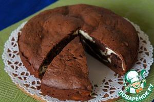 Рецепт Шоколадно-творожный мраморный пирог