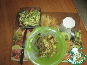 Рецепт Жареная картошка на сале с мясом