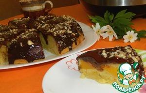 Рецепт Фруктовая шарлотка в шоколадной глазури
