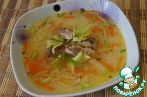 Рецепт Суп из скумбрии с пшеном