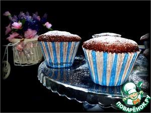 Рецепт Низкокалорийные шоколадные кексы за 1 минуту