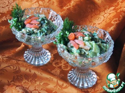салат из авокадо и икры рецепт