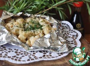 Рецепт Цветная капуста запечённая в пикантном маринаде