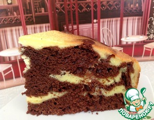 """Рецепт Шоколадно-творожный пирог """" Чудо"""""""