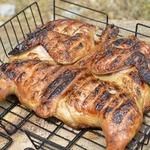 Курица на сетке в горчично-соевом маринаде