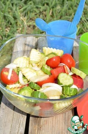 Рецепт Быстрый маринованный салат для пикника