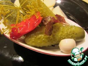 Рецепт Очень острые маринованные огурчики