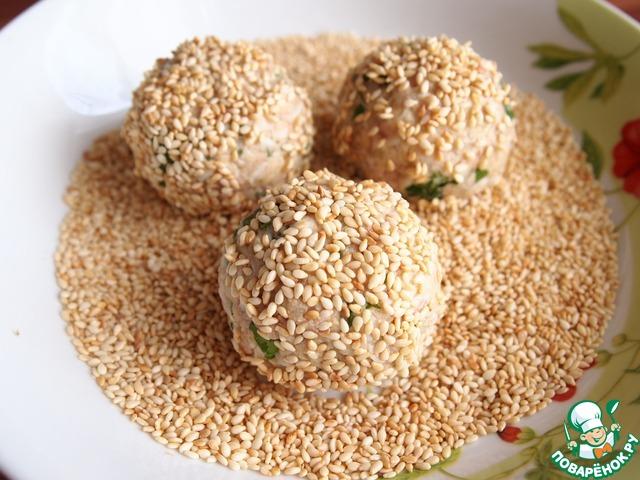 шарики из печени трески в кунжуте рецепт