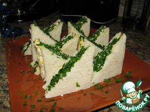 Рецепт Закусочные бутерброды с яичным салатом