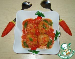 Рецепт Тефтели с сыром в томатном соусе
