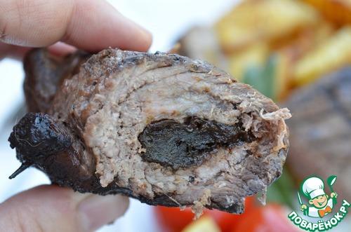 Отбивные котлеты-рулеты из говядины в гранатовом соке – кулинарный рецепт