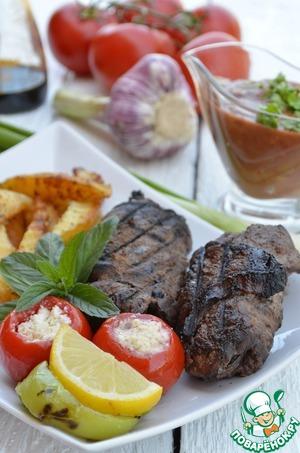 Рецепт Отбивные котлеты-рулеты из говядины в гранатовом соке