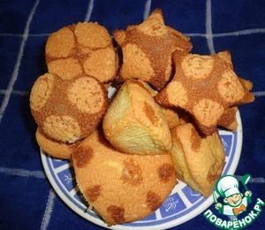 Рецепт Бисквитные кексики в горошек
