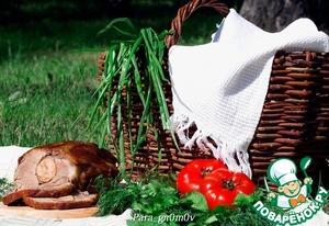 Рецепт Свинина, фаршированная колбасой