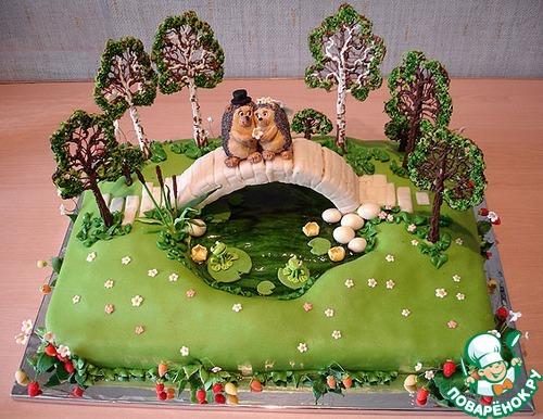 Оригинальное оформление тортов с фото