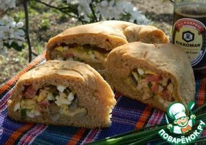 Рецепт Хлеб с начинкой на пикник