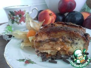 Рецепт Сливочный хлебный пудинг