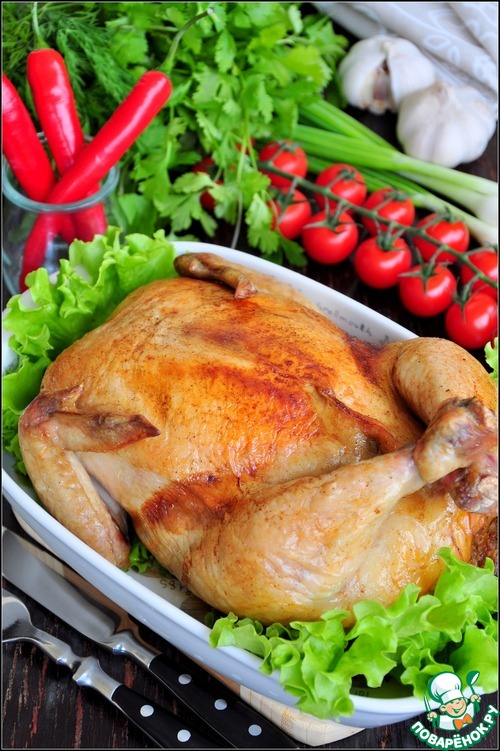 Фаршированная курица рецепты с