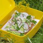 Куриный салат-два варианта подачи для пикника