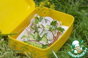 Рецепт Куриный салат-два варианта подачи для пикника