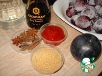 Шашлычки из печени на гриле и сливовый соус ингредиенты