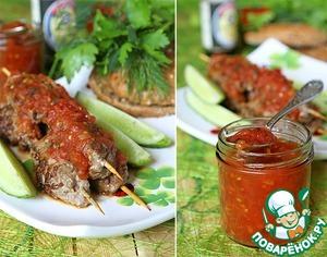 Рецепт Кебабы из говядины с соево-томатным соусом