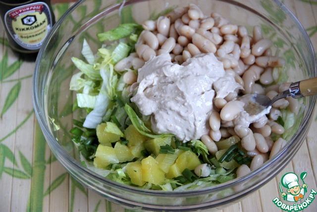 рецепт салат с фасолью и ананасом рецепт