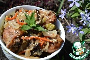 Рецепт Куриные голени с овощами в кисло-сладком соусе