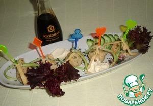 Рецепт Изысканные канапе с сыром и фрикадельками