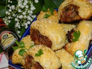 Рецепт Закуска мясная с яблоками