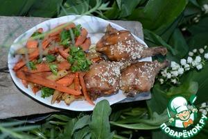Рецепт Курочка в цитрусовом маринаде с овощами