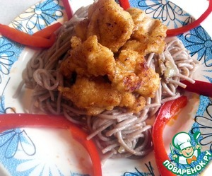 Рецепт Курица терияки с гречневой лапшой