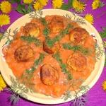 Рыбные шарики в томатно-ананасовом соусе