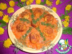 Рецепт Рыбные шарики в томатно-ананасовом соусе
