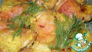 Рецепт Куриные бедра в йогуртовом маринаде