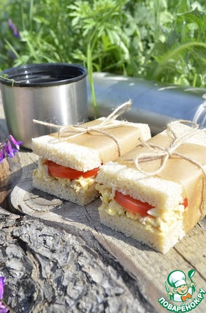 Рецепт Бутерброды с тунцом ( 2 варианта подачи)