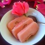 Розовый сорбет с джемовой прослойкой