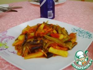 Как готовить домашний рецепт приготовления с фотографиями Овощное рагу троечка