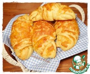 Сырные круассаны домашний пошаговый рецепт с фотографиями готовим