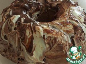 Рецепт Шоколадный кекс с мраморной глазурью