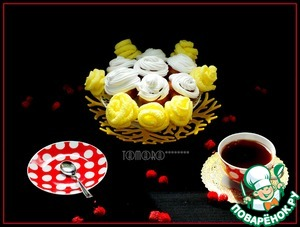 Рецепт Кексы-розы на желтках