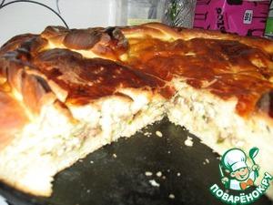 Рецепт Сдобный пирог с мясом и творогом