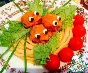 Рецепт Тефтельки «Сказочные» в сливочно-томатном соусе
